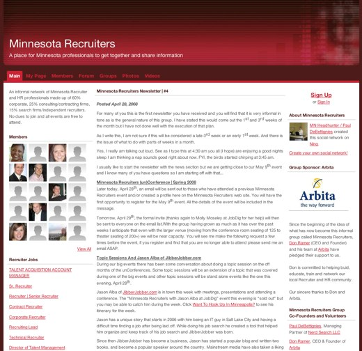 Sharing ideas with Minnesota Recruiters