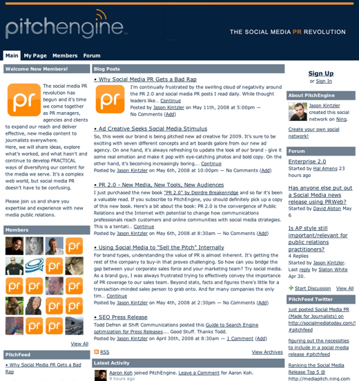 Crafting a message with PitchEngine
