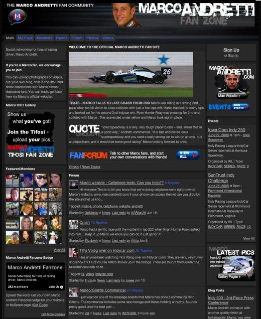 Marco Andretti Fan Zone