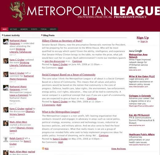 Progressive policies at Metropolitan League