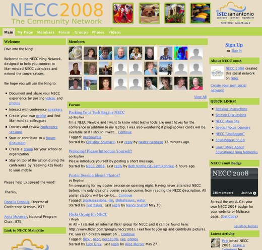 Educators and electronics at NECC