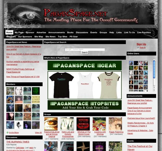Meeting the Occult on PaganSpace