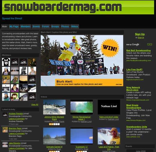 Hitting the slopes at Snowboarder Community
