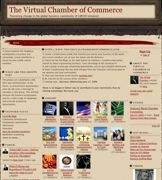 A virtual Chamber of Commerce