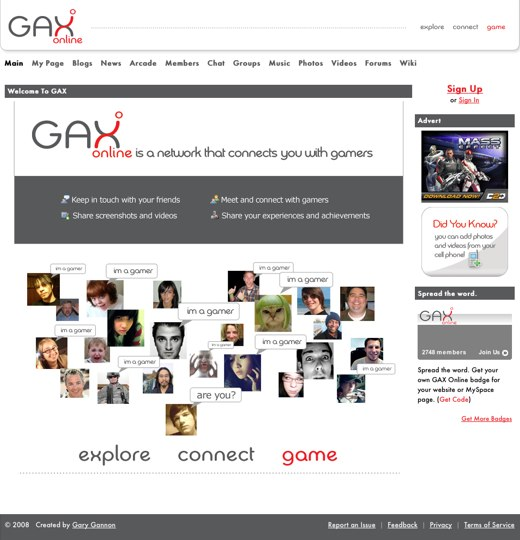Paying a visit to GAX Online
