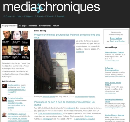 French conversation about media challenges