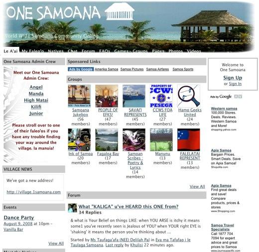 Online at One Samoana