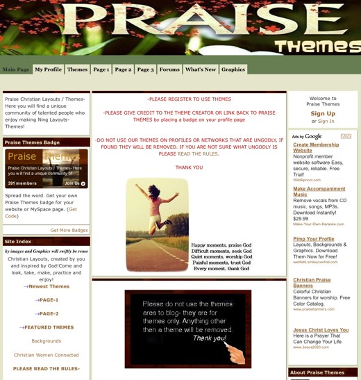 Find a new background at Praise Themes