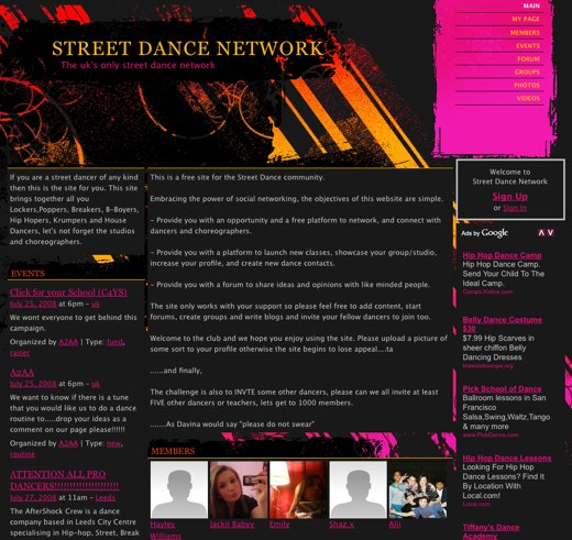Move your feet to the Street Dance Network