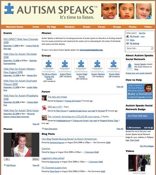 Autism Speaks Social Network
