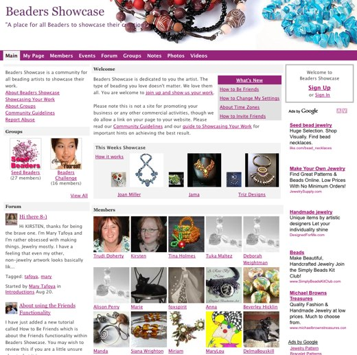 Beaders Showcase, the beader's online art gallery