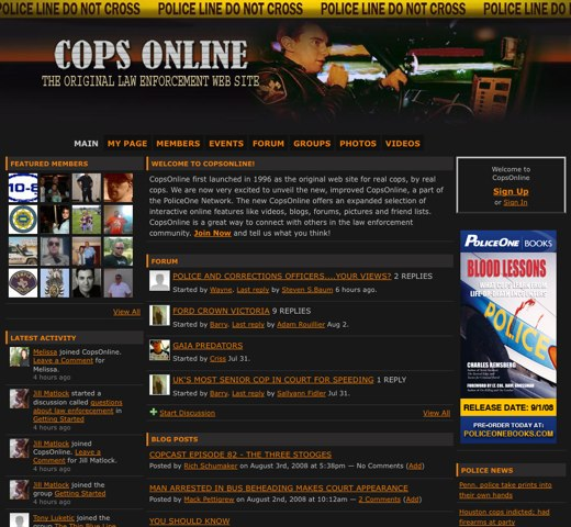 Law enforcement flocks to Cops Online
