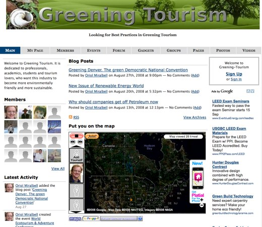 Tourism, the green way