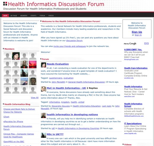 Home for Health Informatics professionals
