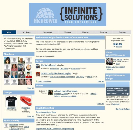 A world of infinite solutions at HighEdWeb