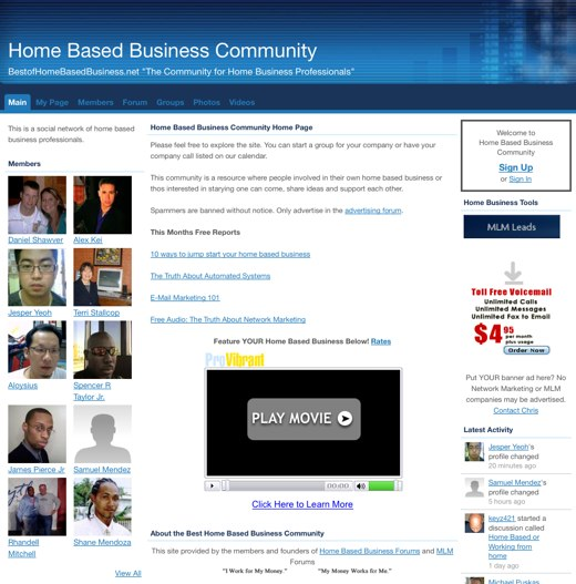 Building a home-based business
