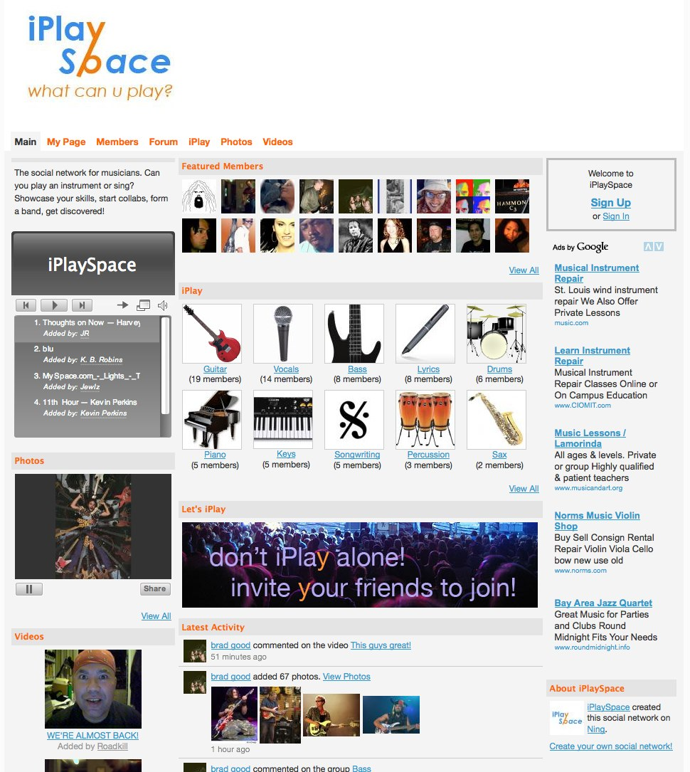 Show off what you can play at iPlay Space