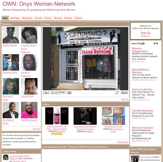 Support for fellow women at Onyx