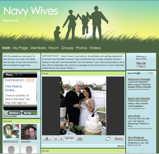 Navy Wives Offers Support, Friendship