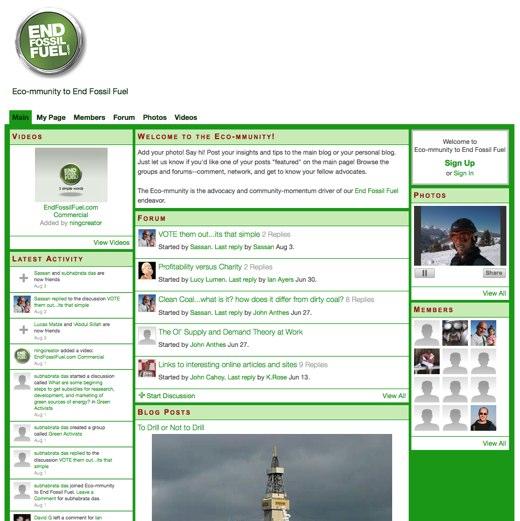 Go green at EndFossilFuel