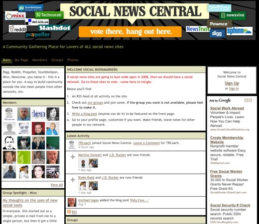 Plugged in at Social News Central