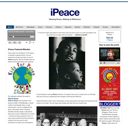 Learn the power of unity at iPeace