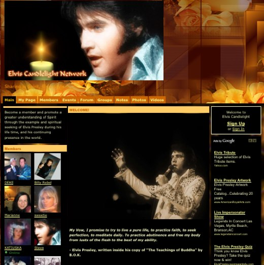 Raise a lighter to the Elvis Candlelight Network