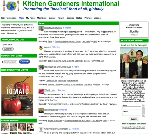 Staying local at Kitchen Gardeners