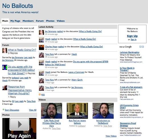 No Bailouts, no way