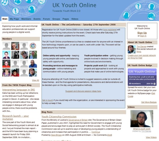 Toward Youth 2.0 in the UK
