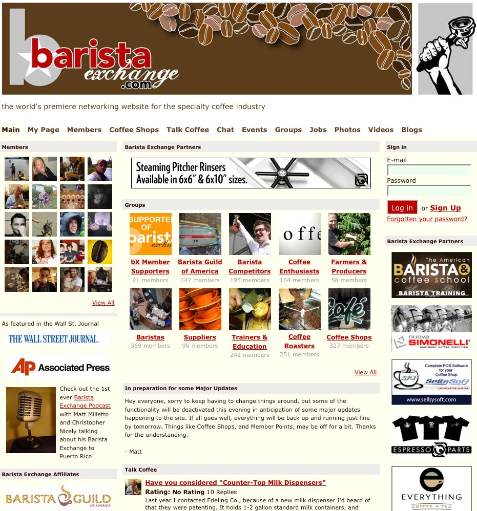 Everything coffee at Barista Exchange