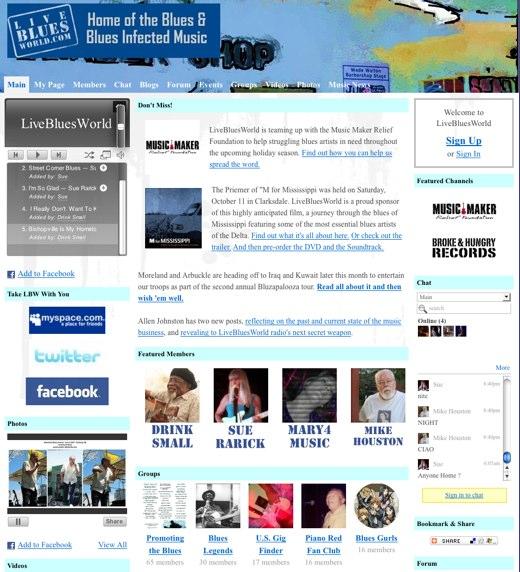 Jam to the blues at LiveBluesWorld