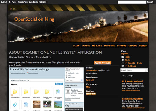 OpenSocial Now on Ning! 3
