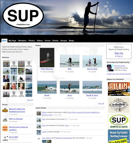 Catch a ride with Stand Up Paddle Surfing