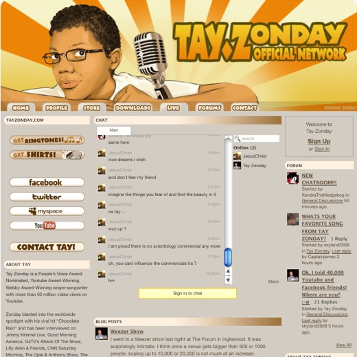 Chocolate Rain's online home
