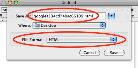 Verifying your network for Google Webmaster Tools 2