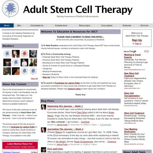 Raising awareness of stem-cell therapy