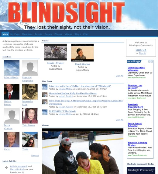 Be amazed at human possibility at Blindsight