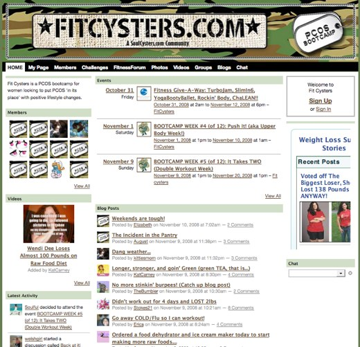 Find supportive sisters at Fit Cysters