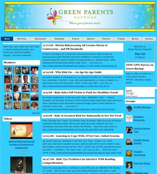 Parents Going Green