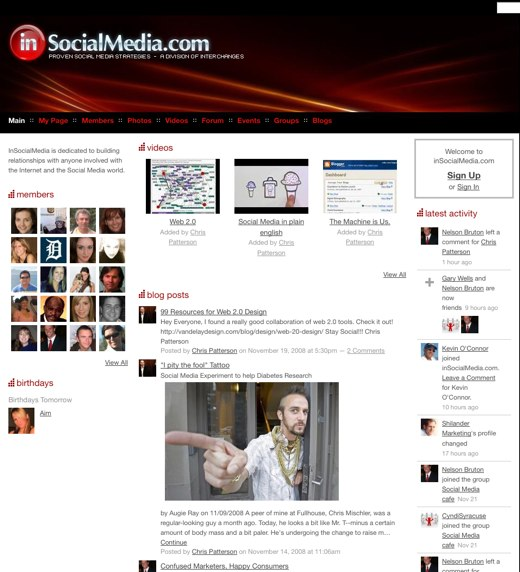 Hook up with fellow web junkies at inSocialMedia.com