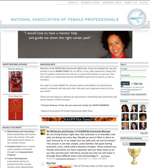 Learn and network with the National Association of Female Professionals