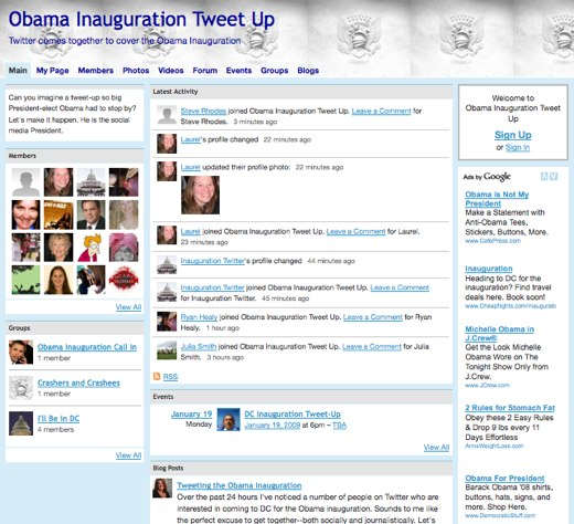 The inaugural inauguration tweet-up