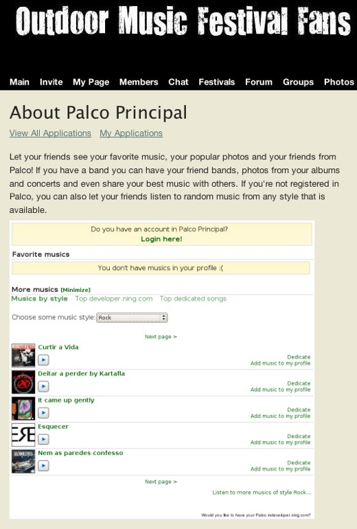 Share your love for music with Palco Principal