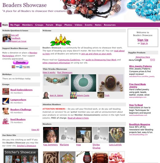 Share your creation at Beaders Showcase
