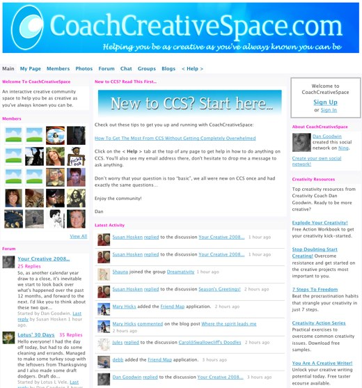 Reach your inner creativity at CoachCreativeSpace