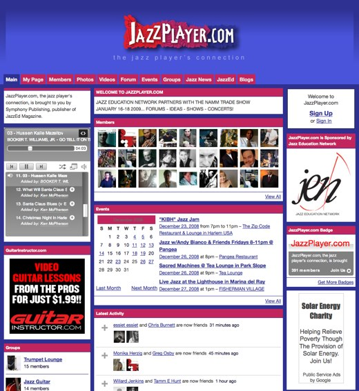 Play it with feeling at Jazz Player
