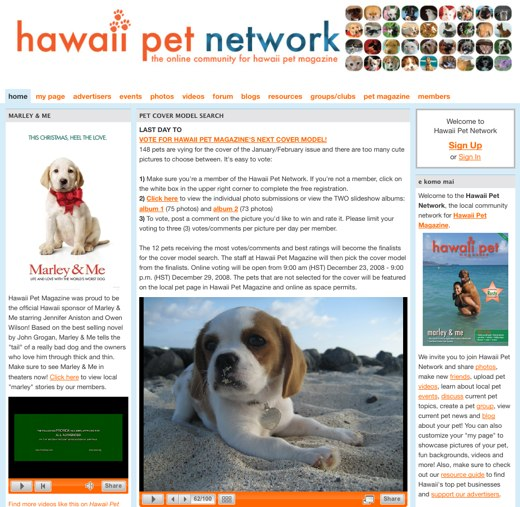Show off your island animals on the Hawaii Pet Network!