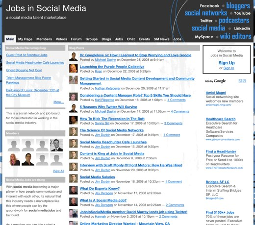 Find a new life at Jobs in Social Media