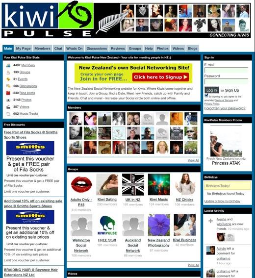 Meet your fellow Kiwis at Kiwi Pulse